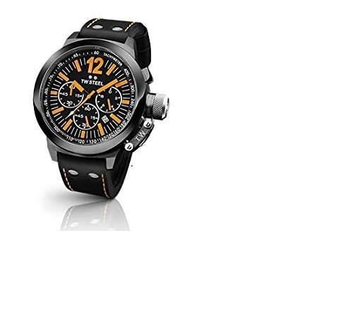 TW-Steel Unisex-Armbanduhr CEO Canteen Chronograph Quarz Leder TWCE1030