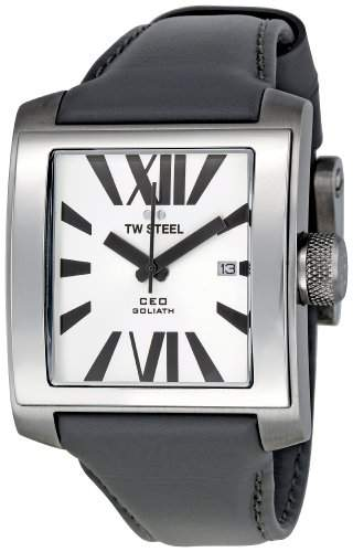 TW Steel Herren-Armbanduhr Ceo Goliath Analog Quarz Leder CE3001