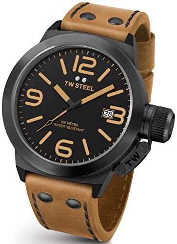 Armbanduhr Unisex TW STEEL -CANTEEN LEATHER 50mm- CS42