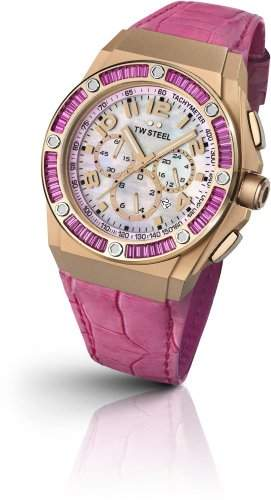 TW Steel Damen-Armbanduhr XL TECH Chronograph Quarz Leder TWCE4006