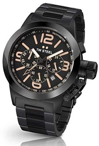 TW Steel Damen-Armbanduhr Canteen Style Kelly Analog Quarz Edelstahl beschichtet TW-312