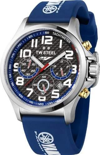 TW Steel Herren-Armbanduhr Pilot Yamaha Analog Quarz Kautschuk TW-927