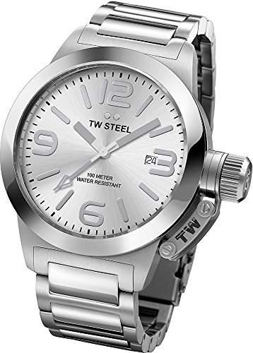 TW Steel Unisex-Armbanduhr Canteen Bracelet Analog edelstahl grau TW304