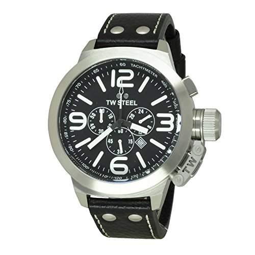TW-STEEL Herren-Armbanduhr Canteen Style Analog Quarz TW-4