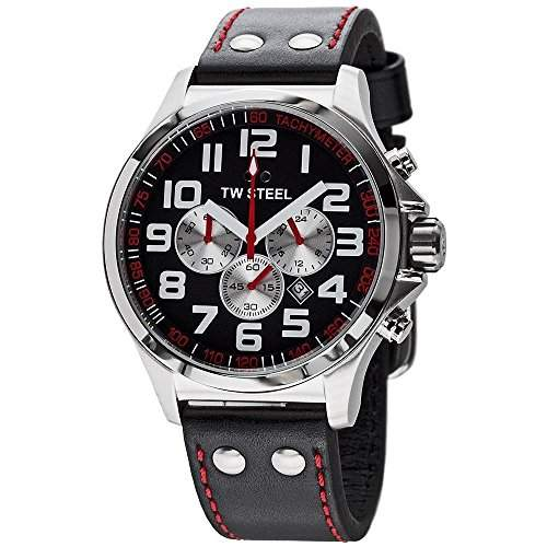 TW Steel Damen-Armbanduhr XL Pilot Chronograph Quarz Leder TW-414