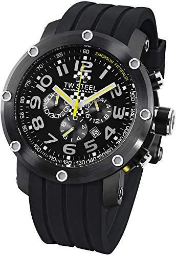 TW Steel Sonder-Edition Herren-Armbanduhr XL Grandeur Tech Chronograph Silikon TW-610