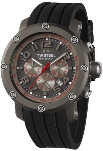 TW Steel Sonder-Edition Unisex-Armbanduhr Grandeur Tech Chronograph Silikon TW-612