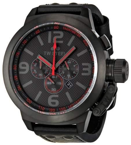 TW Steel Unisex Armbanduhr Chronograph Leder schwarz TW903 Gurt