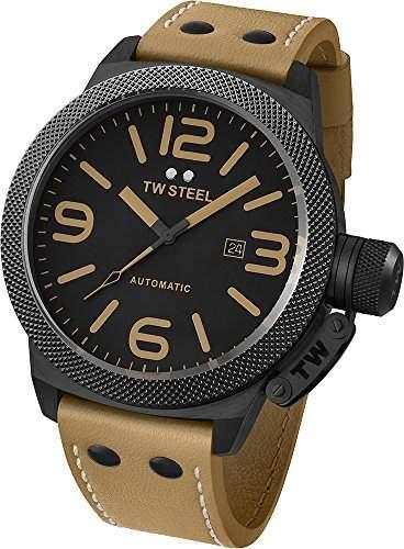 TW Steel Unisex-Armbanduhr Analog Automatik Leder TWA203