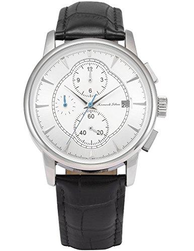 KS Herren Automatik Mechanische Armbanduhr Herrenuhr Automatikuhr Schwarz Leder Band KS285