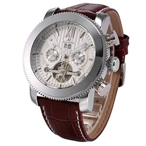 KS Kronen & Soehne Automatikuhr Mechanische Armbanduhr Herrenuhr Automatik Mechanik Uhr KS020