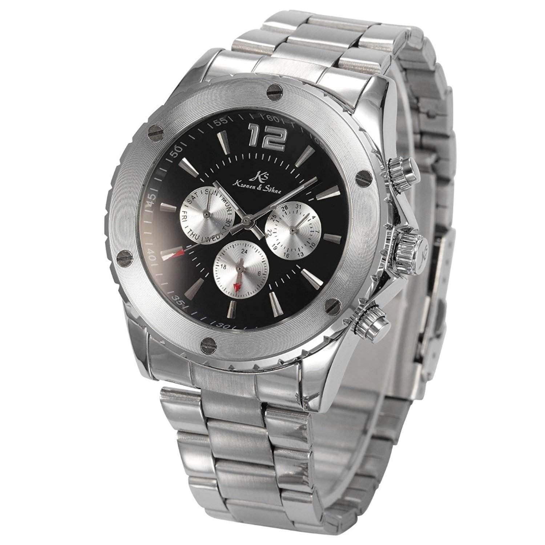 KS Kronen & Soehne Automatikuhr Mechanische Armbanduhr Herrenuhr Automatik Mechanik Uhr KS050