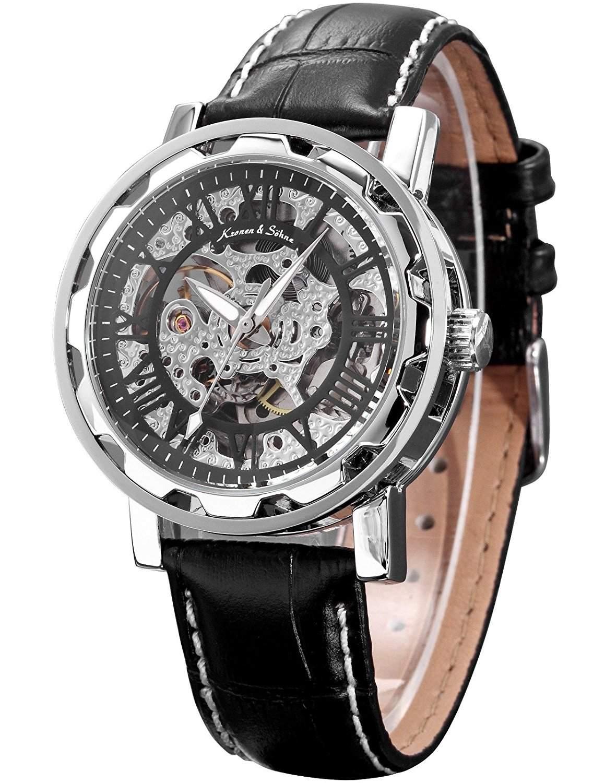 KS Kronen & Soehne Automatikuhr Mechanische Armbanduhr Herrenuhr Automatik Mechanik Uhr KS082