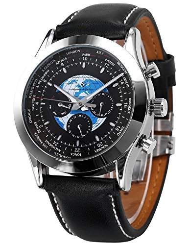 KS Automatik Uhr Mechanische Uhr Herren Uhr Leder Armbanduhr Herrenuhr KS088