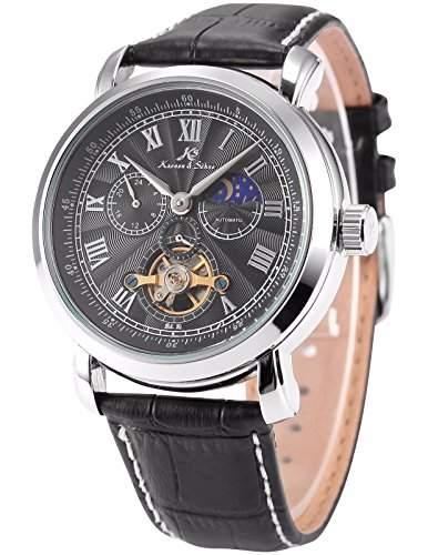 KS Herren 24 Stunde Leder Band Automatik Mechanischen Armbanduhr KS222