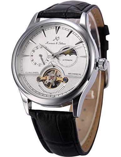 KS Herren Automatische Mechanische Armbanduhr Analog Leder Armband KS227