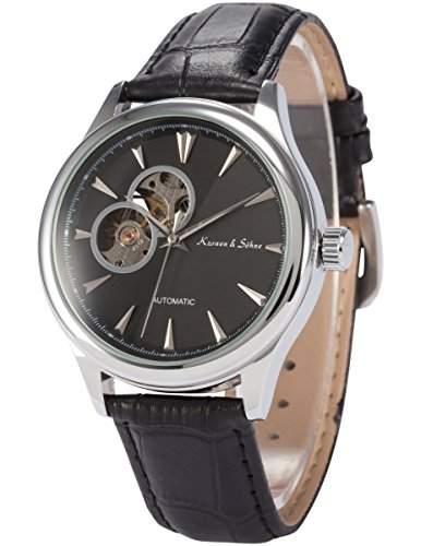 KS Herren Automatische Mechanische Armbanduhr Analog Leder Armband KS298