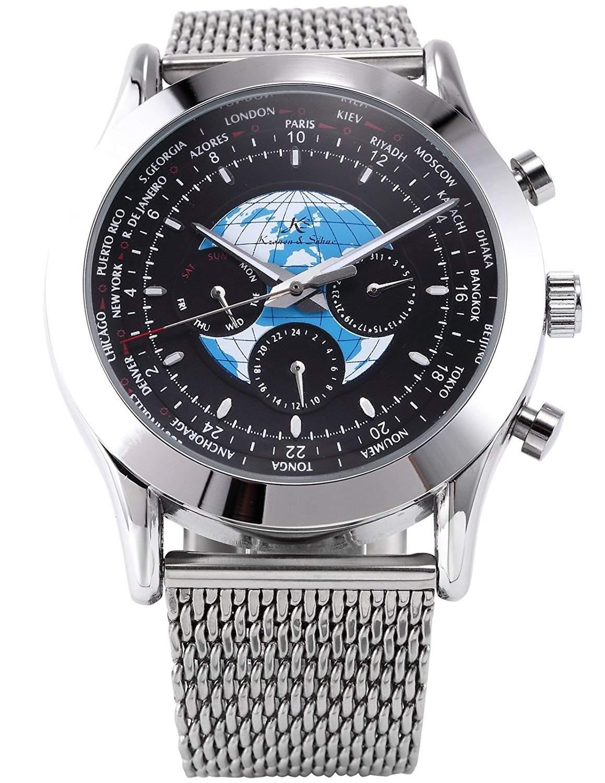 KS Herrenuhr Automatik Uhr Mechanische Herren Uhr Edelstahl Armbanduhr KS086