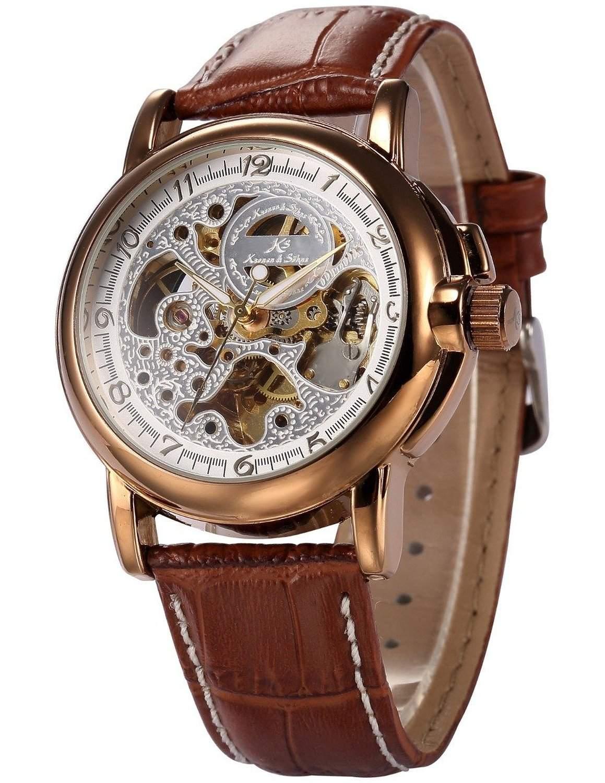 KS Kronen & Soehne Automatikuhr Mechanische Armbanduhr Herrenuhr Automatik Mechanik Uhr KS037