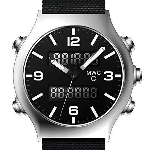 MWC G10 EVO Black Dual Time Chronograph Edelstahl NATO schwarz Militaer Herrenuhr