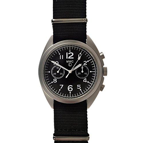 MWC LTD EDITION RAF Pattern Militaerische Chronograph Automatik Edelstahl 316L Stoff NATO oroogio Herren