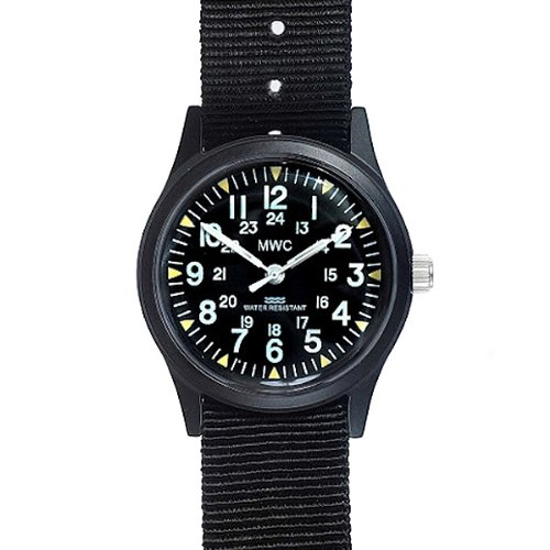 MWC Uhr Military Quarz Matt Black Pattern Vietnam