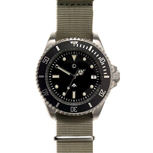 MWC Quartz 300 m Stainless Steel Submariner Military