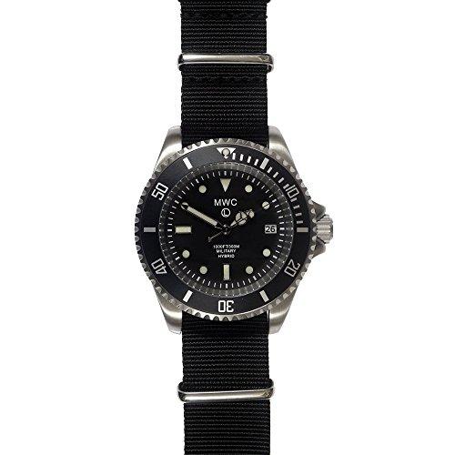 MWC Uhrwerk Hybrid 300m Edelstahl Submariner Schwarz NATO Militar Herren Uhr