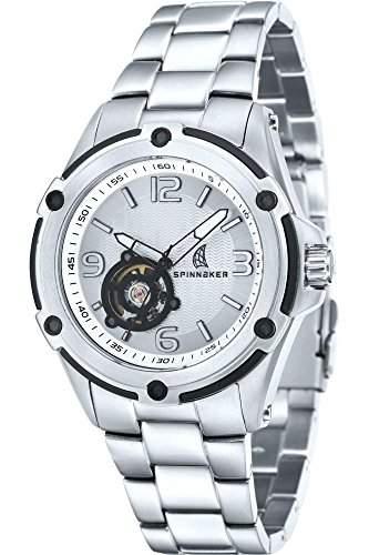 Spinnaker-sp-5016-22-Windy-Zeigt Herren-Automatische 1076312Analog Armband Stahl Grau
