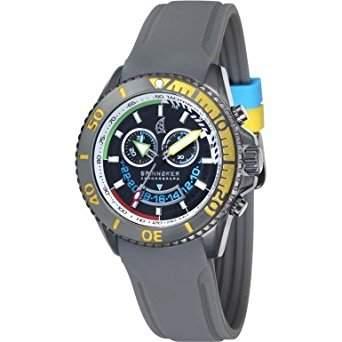 Spinnaker-sp-5021-02-Amalfi-Armbanduhr-Quarz Chronograph-Zifferblatt schwarz Armband Silikon Schwarz