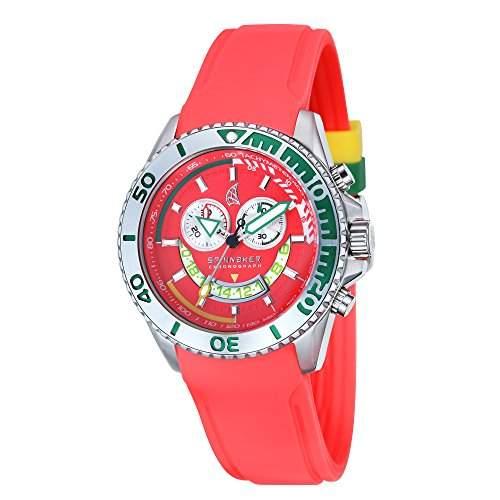 Spinnaker-sp-5021-06-Amalfi-Armbanduhr-Quarz Chronograph-Zifferblatt Rot Armband Silikon Rot