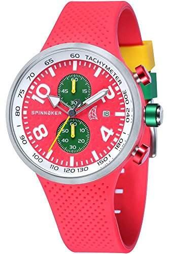 Spinnaker-sp-5029-03-Dynamic-Armbanduhr-Quarz Chronograph-Zifferblatt Rot Armband Silikon Rot