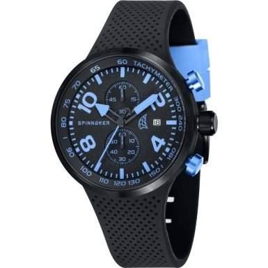 Spinnaker-sp-5029-04-Dynamic-Armbanduhr-Quarz Chronograph-Zifferblatt schwarz Armband Silikon Schwarz
