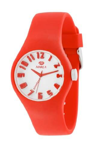 Marea Nineteen Small Round Face Analog Watch - OrangeWhite Dial
