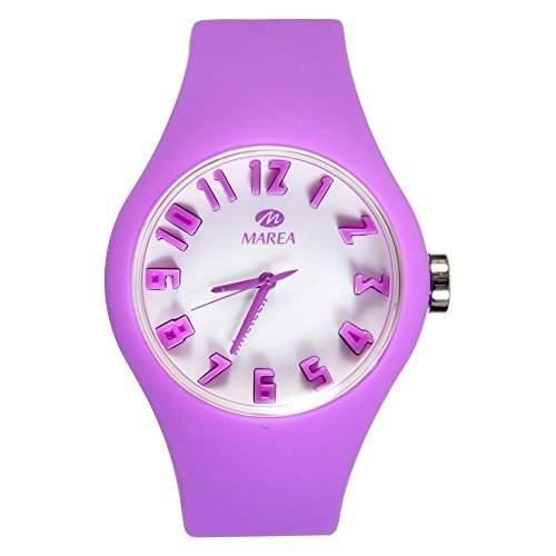 35506-13 Marea Silikon Uhr, Damenuhr in 3D Optik