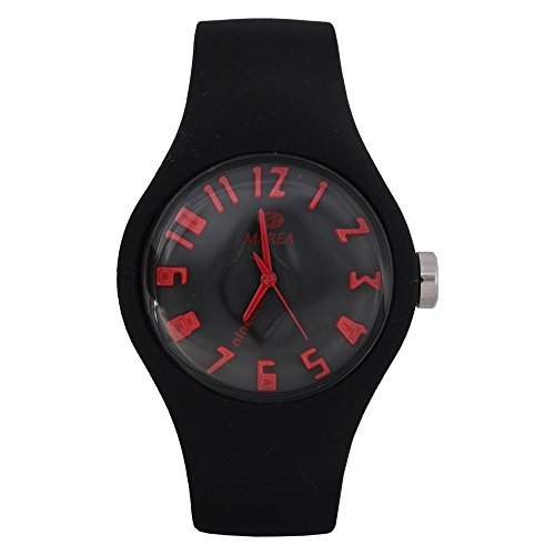 35506-26 Marea Silikon Uhr, Damenuhr in 3D Optik