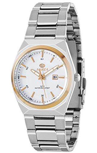 REF b36114 1 Marea Analog Edelstahl Armband aus Edelstahl Box wasserdicht 50 Meter 2 Jahre Garantie