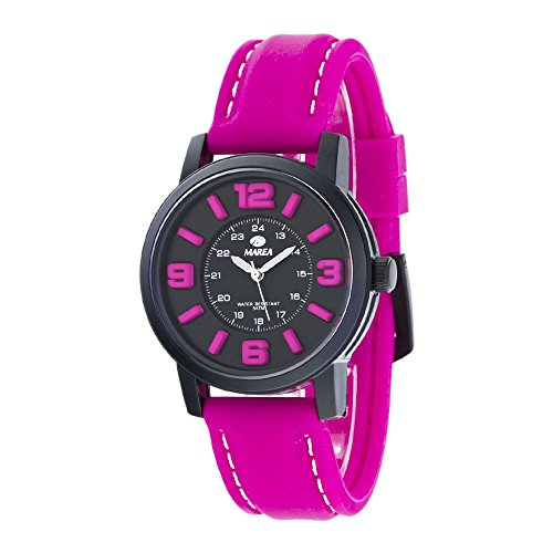 MAREA Armbanduhr NINETEEN M Silikon magenta schwarz B41162 3