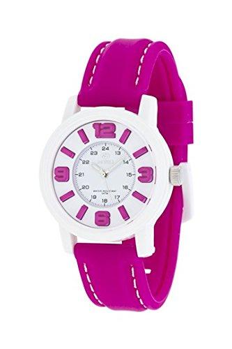 MAREA Armbanduhr NINETEEN M Silikon pink weiss B41162 10