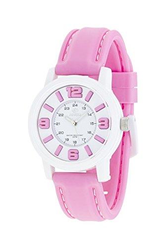 MAREA Armbanduhr NINETEEN M Silikon rosa weiss B41162 16