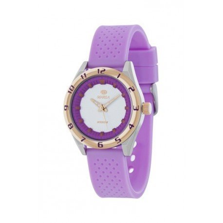 Uhr Flut Frau b35257 5 Box Stahl und Bezel IP Rose Silikon Armband