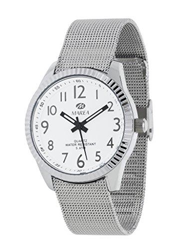 Damen Uhr Flut B35254 5 Mesh Metall weiss