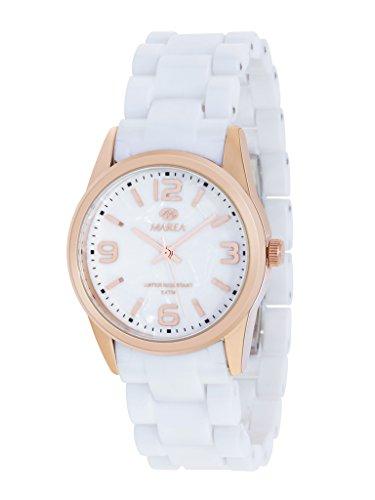 Damen Uhr Marea B32061 2 weiss und rose