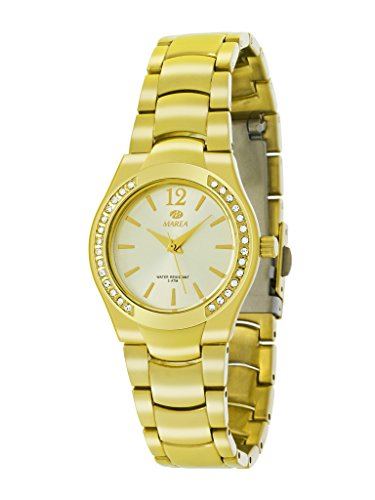 Damen Uhr Marea B54054 2 GOLD MIT ZIRKONIA