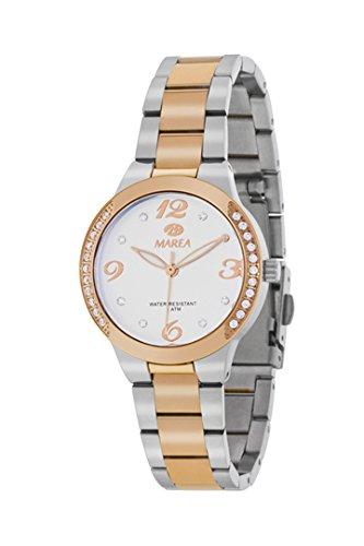 Uhr Flut Frau b54084 4 Edelstahl bicolor vergoldet IP Rose