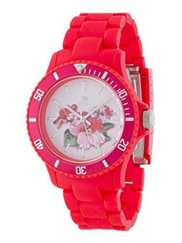 Uhr Flut Damen Trendy b40501 6 Blumen pink