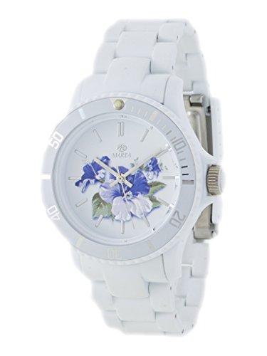 Uhr Flut Damen Trendy b40501 3 Blumen Weiss