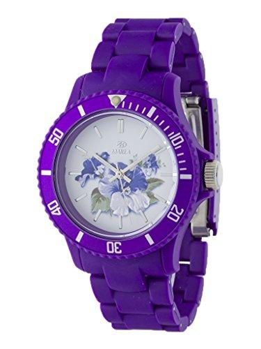 Uhr Flut Damen Trendy b40501 5 Blumen lila