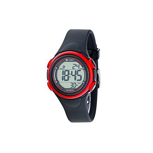 Uhr Flut Digital b44093 1 Silikon Schwarz und Rot