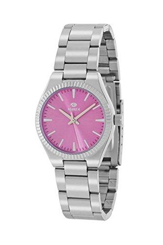 Uhr Flut Frau b21169 3 silber und pink klar